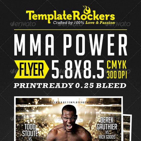 MMA - Power Fightsport Flyer