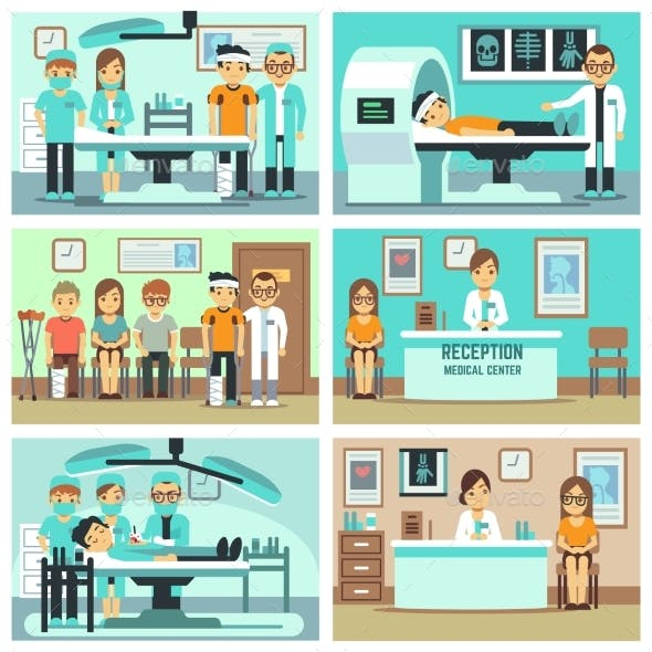 People, Patients in Hospital, Medical Staff