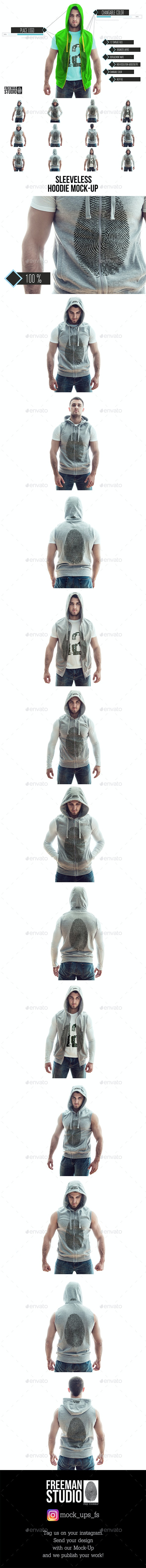 Sleeveless Hoodie Mock-Up - Miscellaneous Apparel