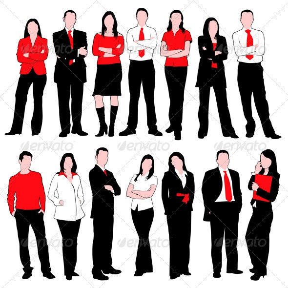 Business People Silhouettes Set - People Characters