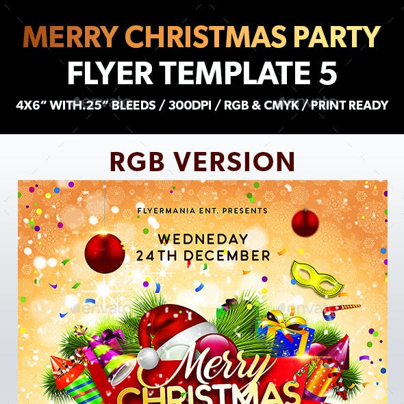 Merry Christmas Party Flyer Template 5