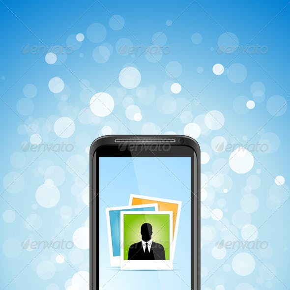 Business Background with Modern Smart-phone