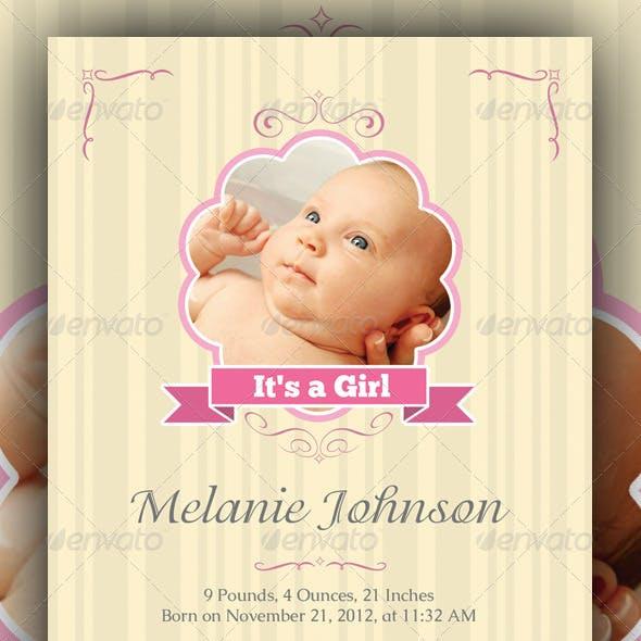 Baby Announcement Cards Bundle v1