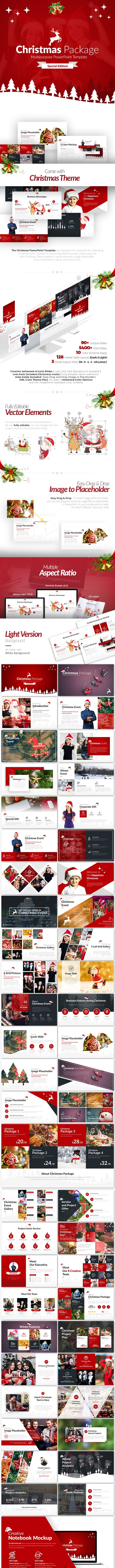 Christmas Package Business PowerPoint Template - Business PowerPoint Templates