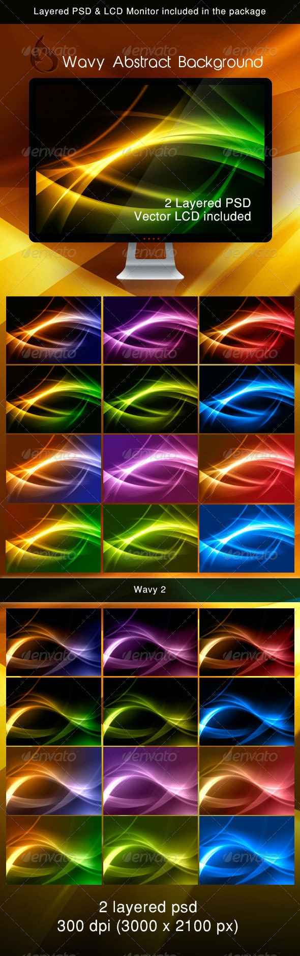 Wavy abstract background - Backgrounds Graphics