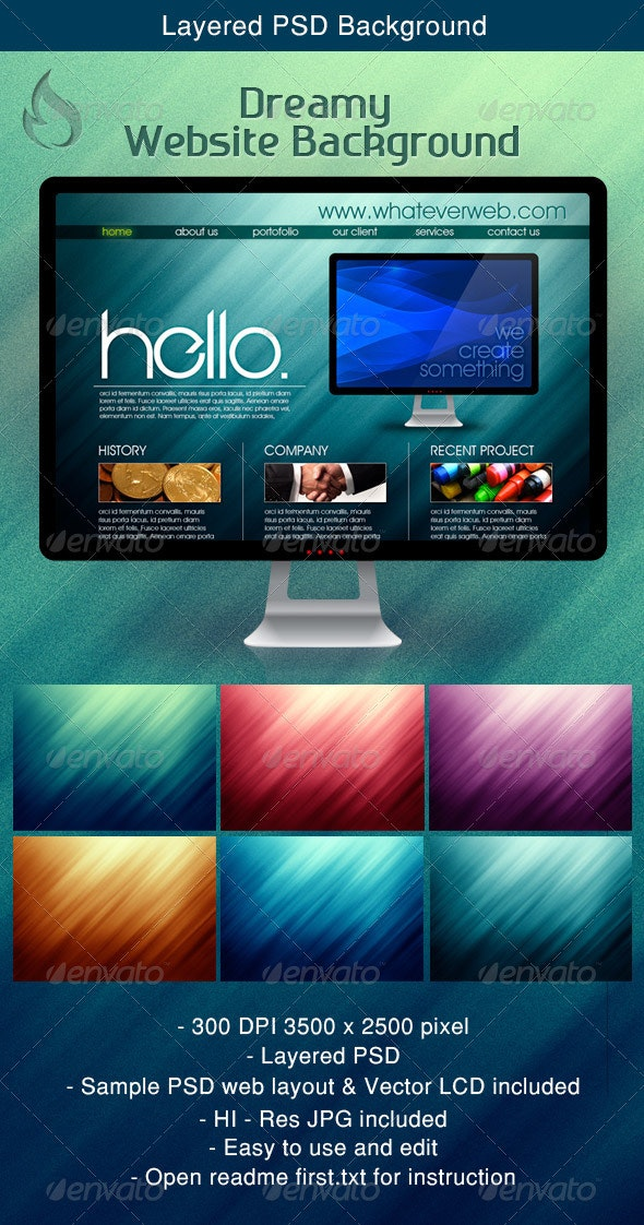 Dreamy Website Background - Backgrounds Graphics