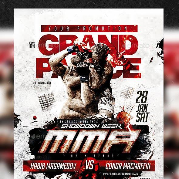 MMA Flyer Template PSD