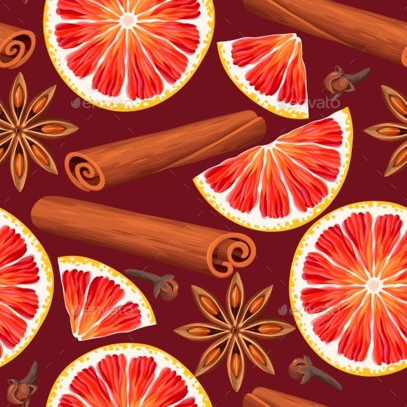Seamless Orange and Spices