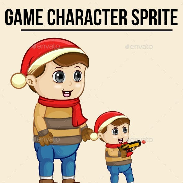 Boy in Christmas Sprite Character