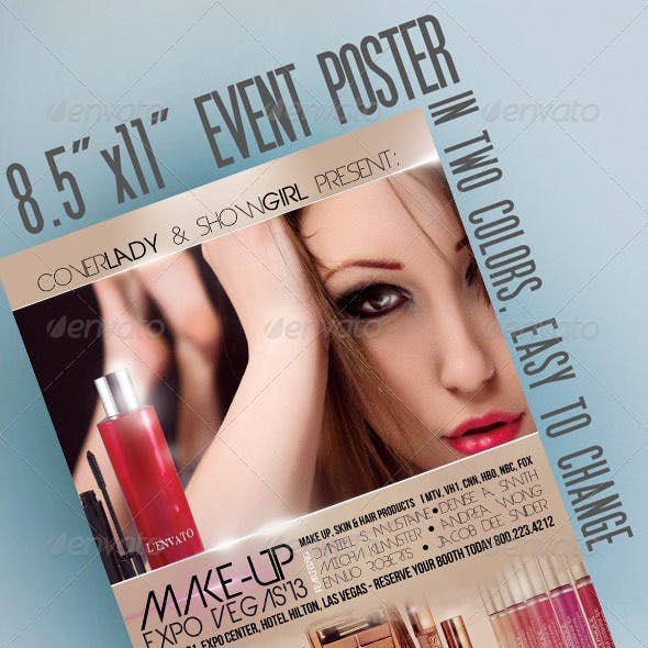"""8.5""""x11"""" Event Flyer in two colors"""