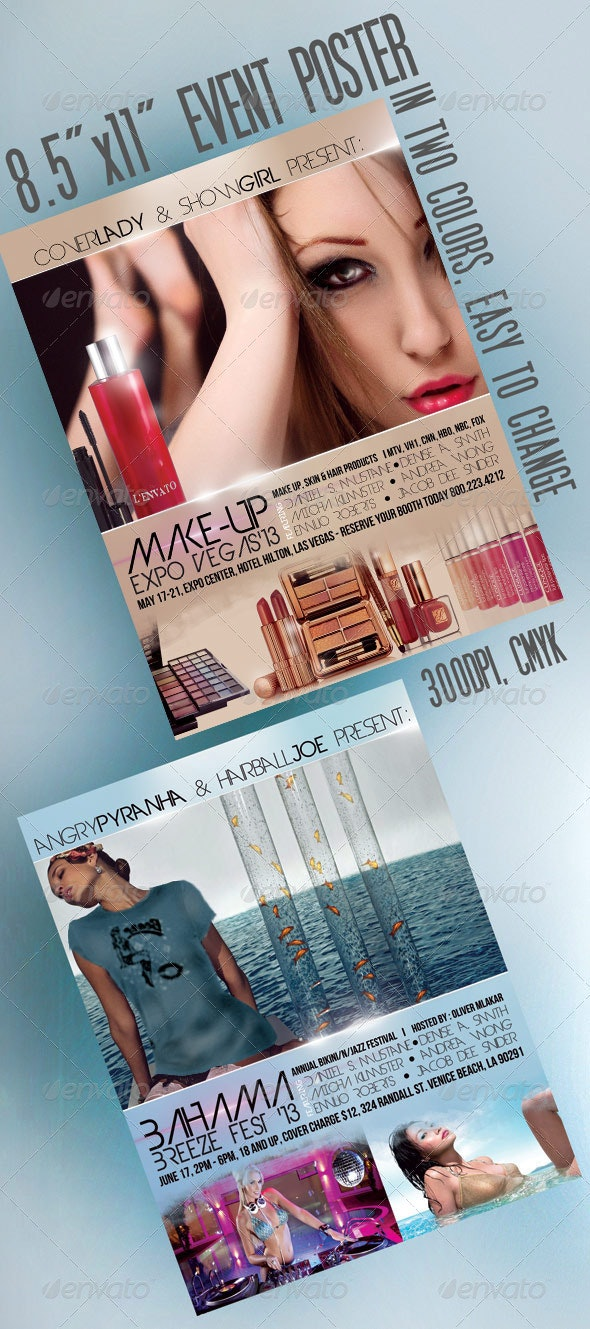 """8.5""""x11"""" Event Flyer in two colors - Events Flyers"""
