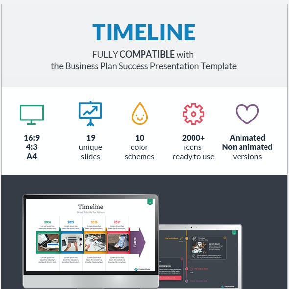Timeline Success PowerPoint Presentation Template