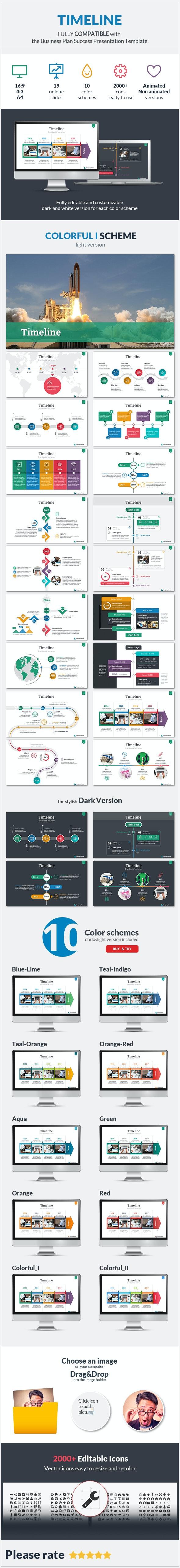Timeline Success PowerPoint Presentation Template - PowerPoint Templates Presentation Templates