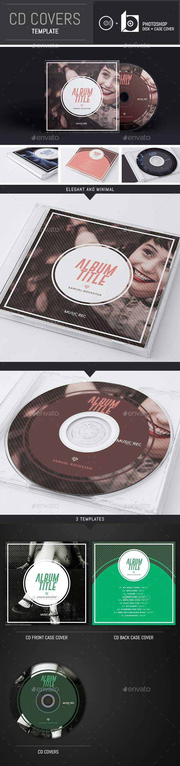 DJ / Musician / Band Abstract CD Cover Template - CD & DVD Artwork Print Templates