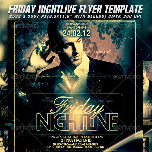Nightlive Flyer Template