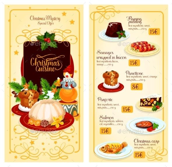 Christmas Cuisine Restaurant Menu Template Design - Christmas Seasons/Holidays