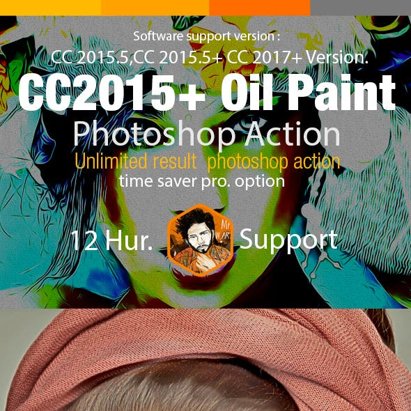 CC2015 Oil Paint Photoshop Action