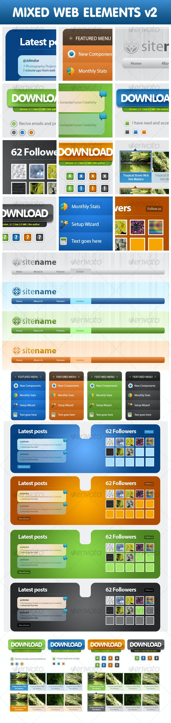 Mixed Web Elements v2 - Web Elements