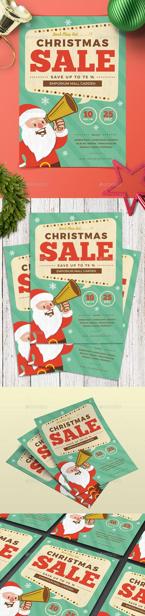Retro Christmas Sale - Events Flyers