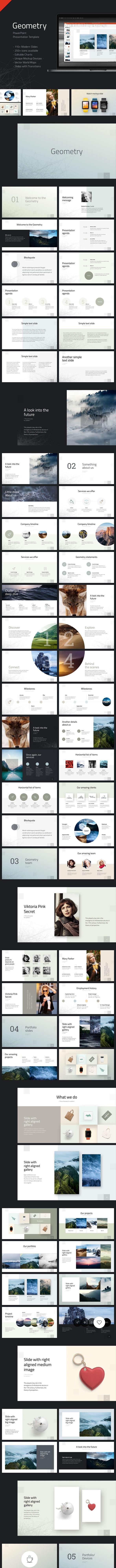 Geometry PowerPoint Presentation Template - Creative PowerPoint Templates
