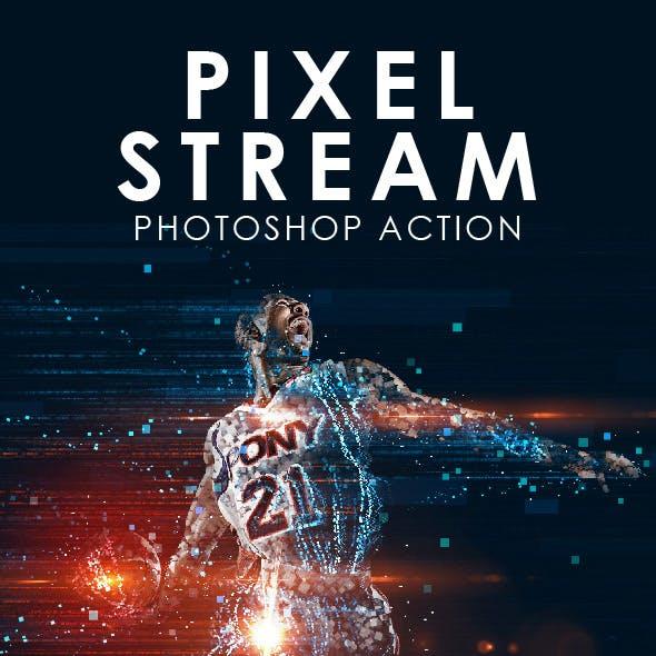 Pixel Stream Photoshop Action