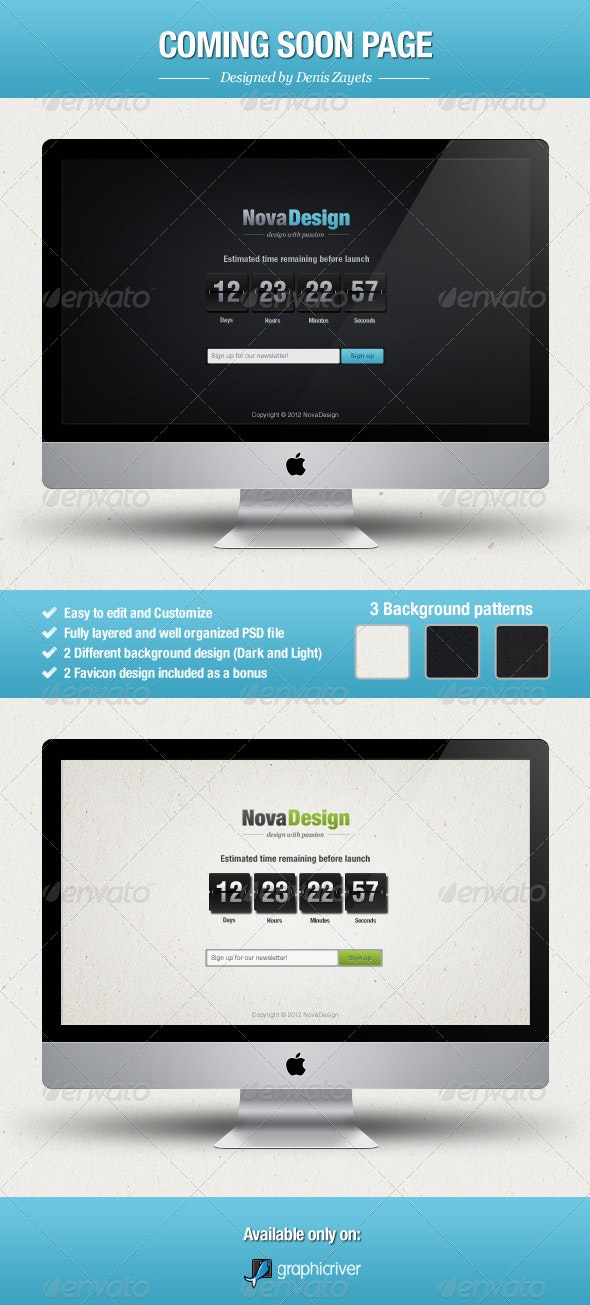 NovaDesign - Coming Soon Page - Miscellaneous Web Elements