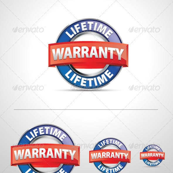Vector Lifetime Warranty Icon