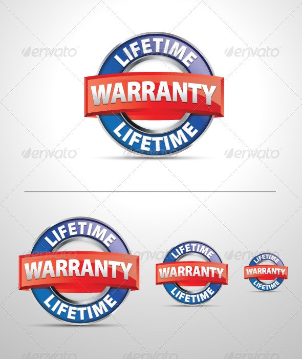 Vector Lifetime Warranty Icon - Objects Vectors