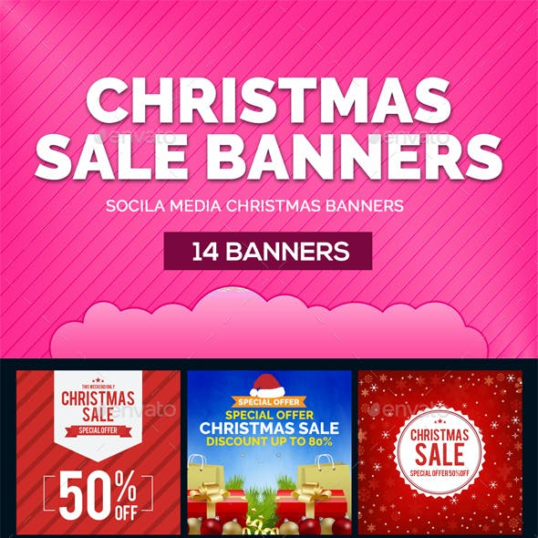 14 Christmas Sale Banners
