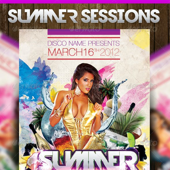 Summer Sessions Party Flyer