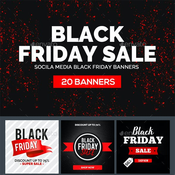 26 Black Friday Facebook Covers and Banners