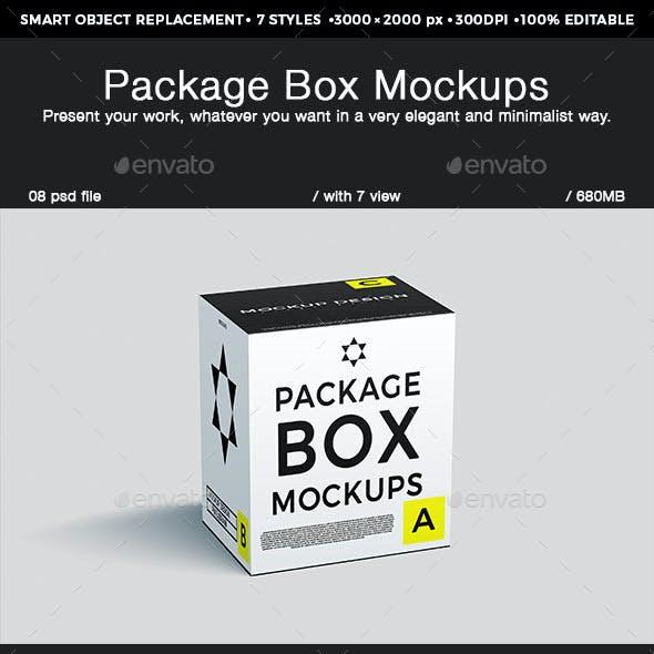 Package Box Mockups