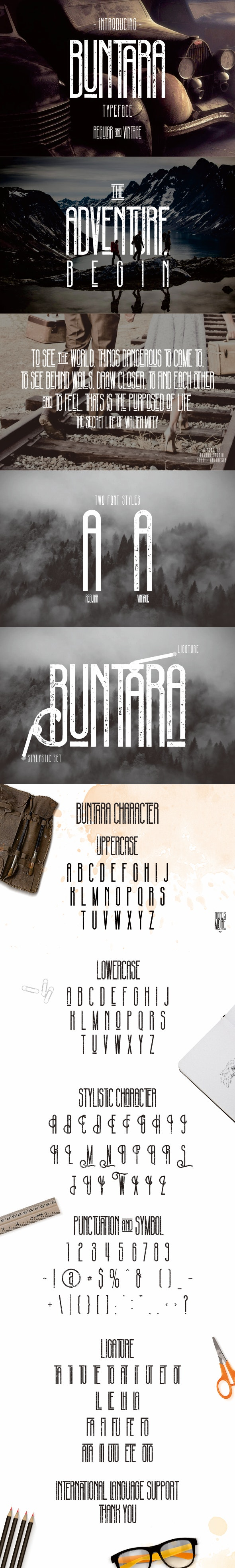 Buntara Typeface - Decorative Fonts