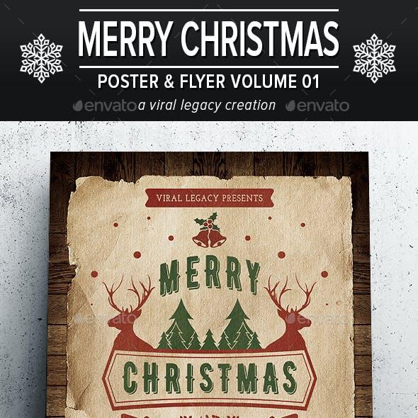 Merry Christmas Poster / Flyer V01