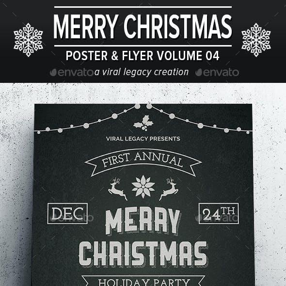 Merry Christmas Poster / Flyer V04