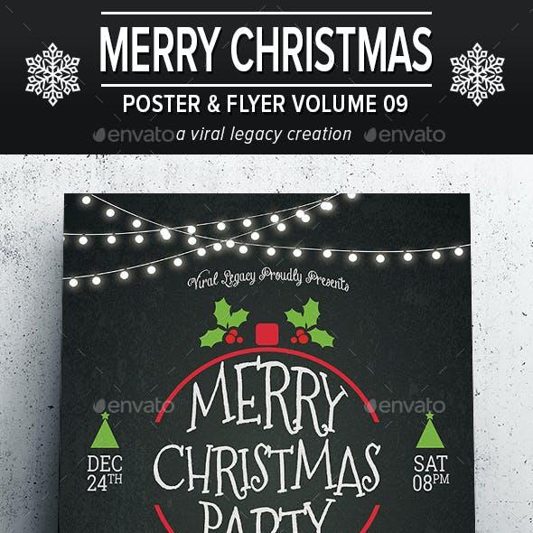 Merry Christmas Poster / Flyer V09