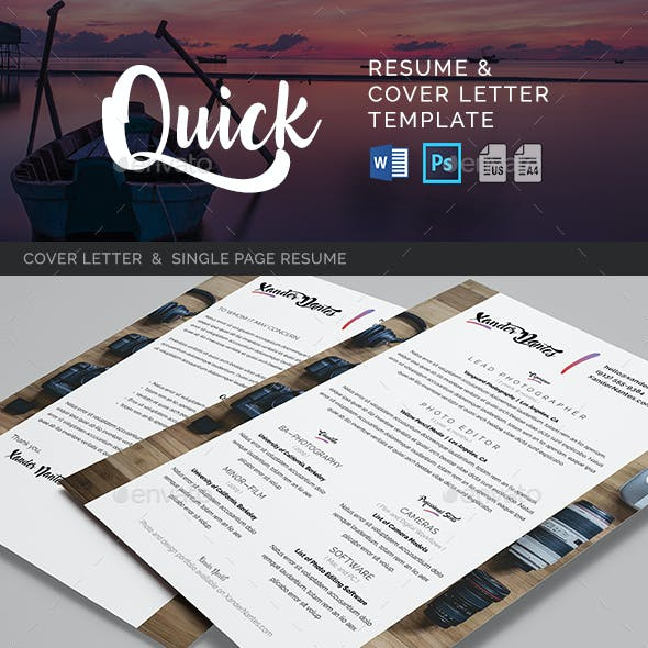 Quick - Resume and Cover Letter