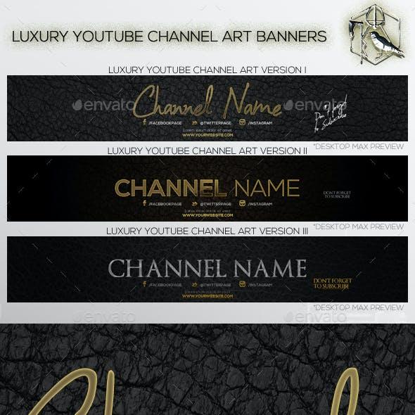 3 Luxury Youtube Channel Art Banners