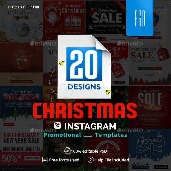 Christmas Instagram Templates - 20 Designs