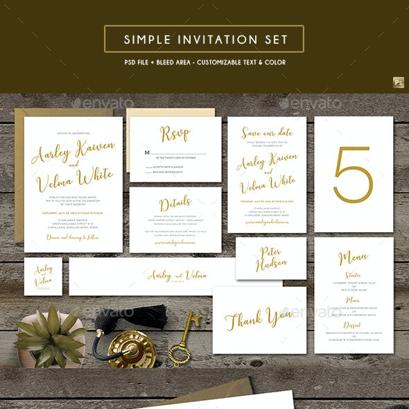 Simple Invitation Set