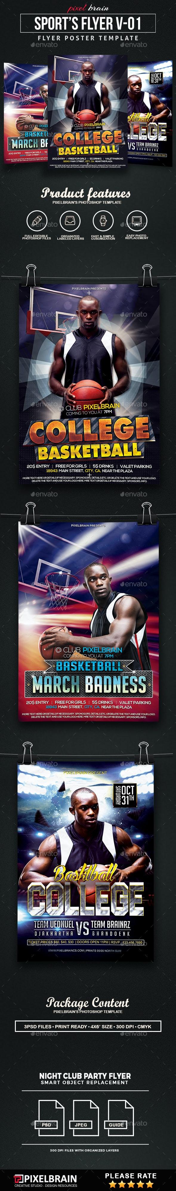 Sports Event Party Flyer Template Bundle Vol - 01 - Sports Events