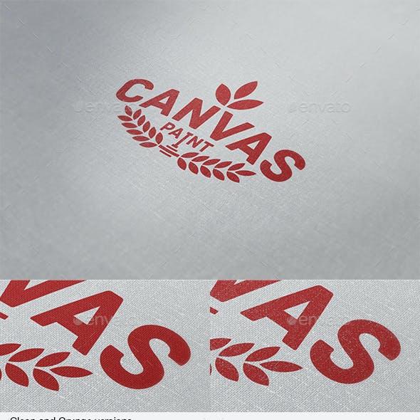 Canvas Paint Logo Mock Up