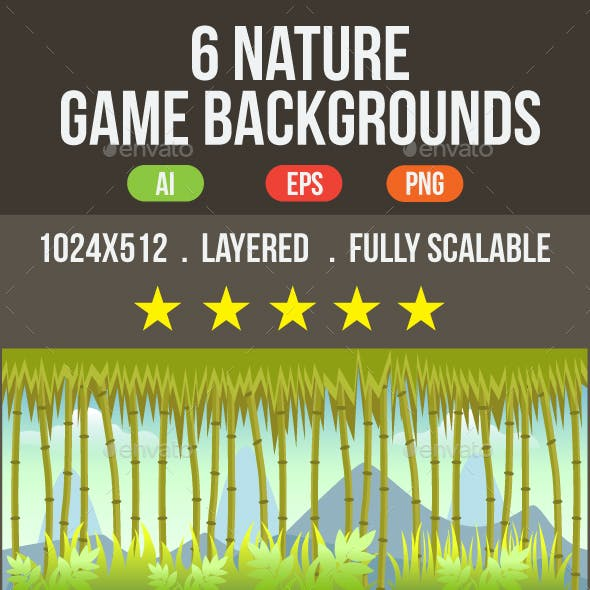 6 Nature Game Backgrounds