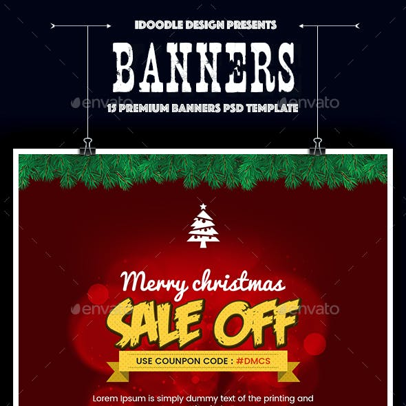 Merry Christmas Banners Ad