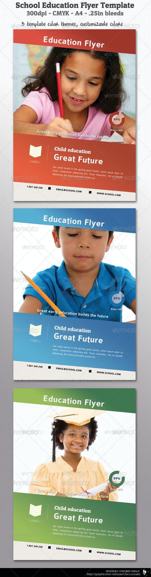 School Education Flyer Template - Flyers Print Templates