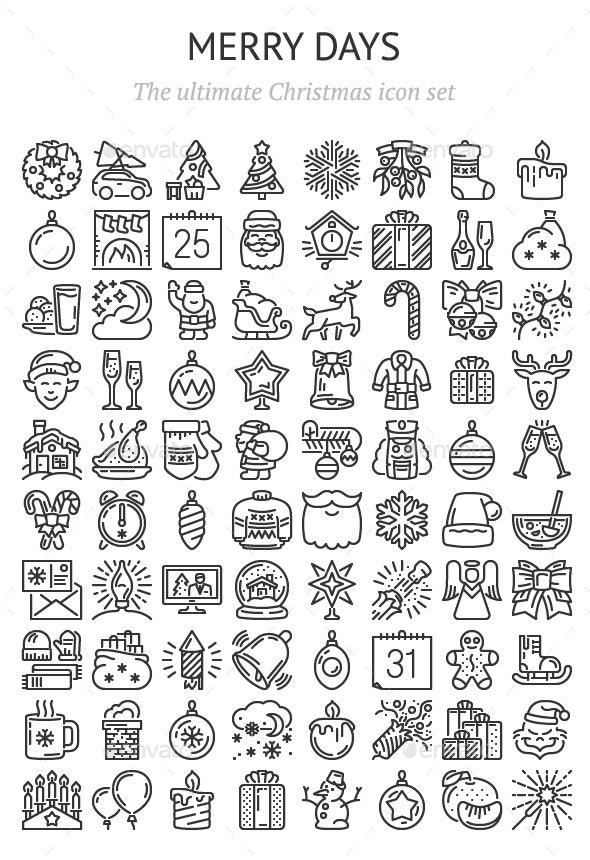 Merry Days – 80 icons