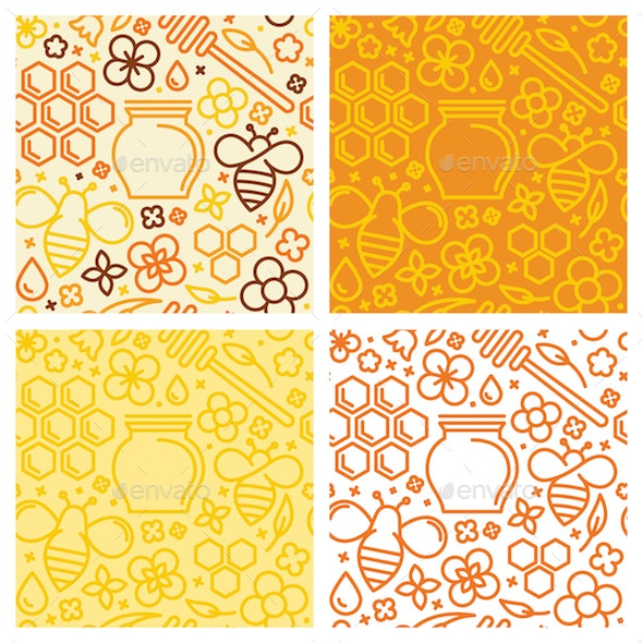 Seamless Patterns - Honey - Patterns Decorative