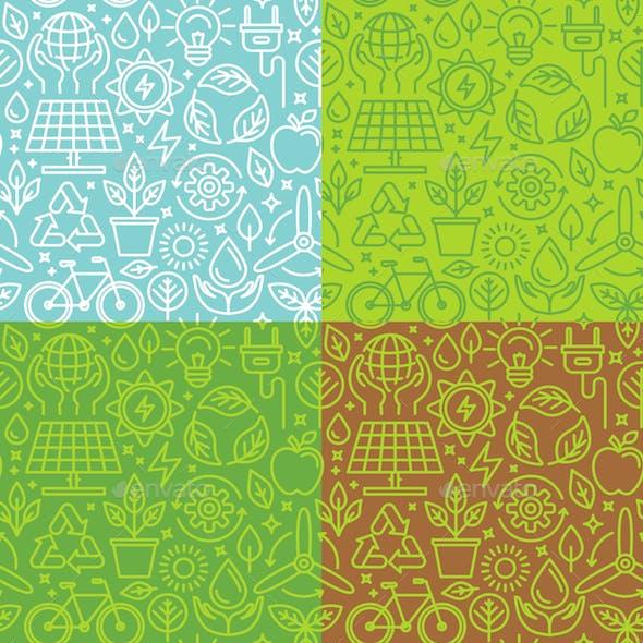 Ecology Seamless Patterns