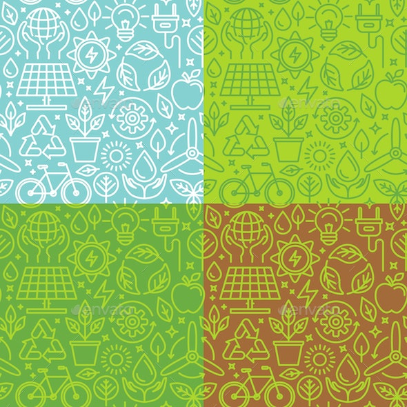 Ecology Seamless Patterns - Patterns Decorative