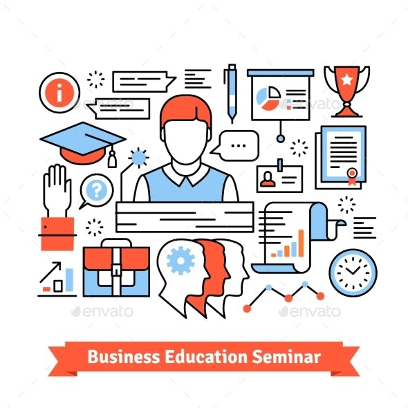 Remote Education Business Seminar Background